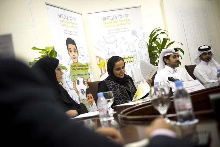 Her Highness Sheikha Al Mayassa bint Hamad Al Thani, Chairperson of Reach Out To Asia