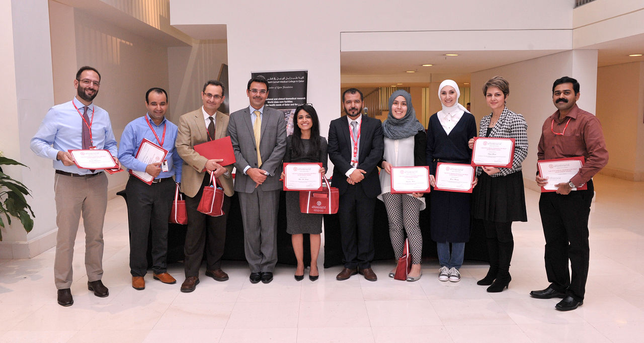 Dr. Khaled Machaca with the posters winners