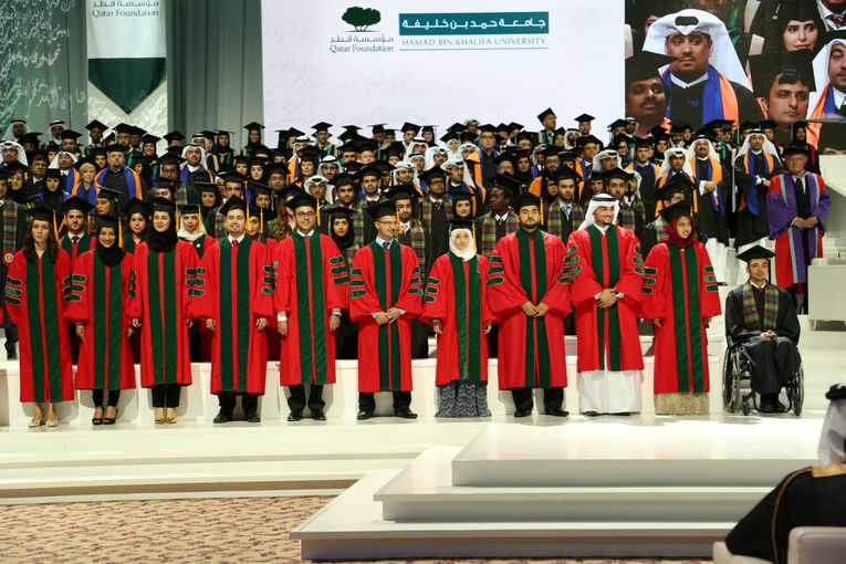 The Father Emir and Her Highness Joined By Thousands To Celebrate Achievements of 549 Students at Convocation 2014