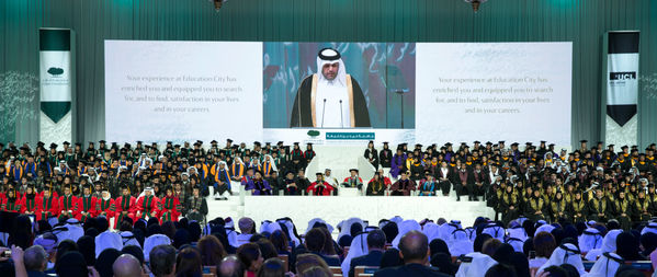 The Father Emir and Her Highness Joined By Thousands To Celebrate Achievements of 549 Students at Convocation 2014 20.1.jpg