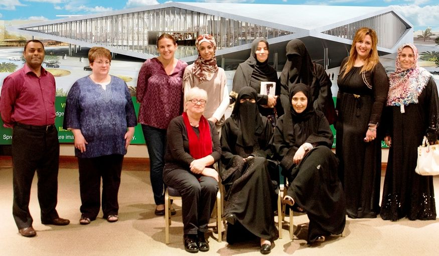 Attendees of Qatar National Library's third book discussion event.jpg
