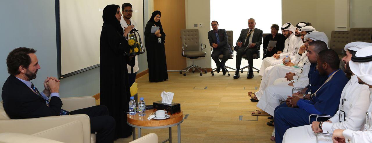 Chief Learning Officer Dr. Kholode Al Obaidli addressing the Grad Associates.jpg