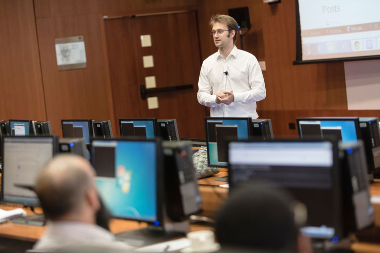 Thierry Sans, assistant teaching professor of computer science at Carnegie Mellon Qatar