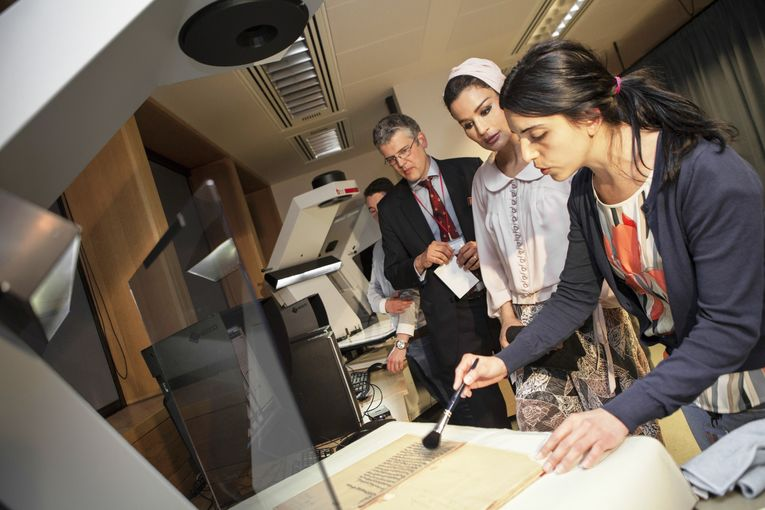 Her Highness marks milestone in digital library project