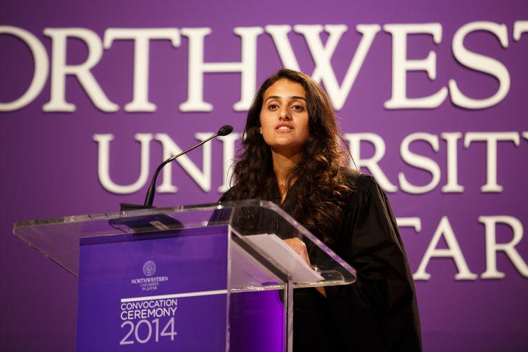 Marium Saeed, NU-Q's Student Union president