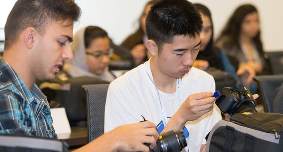 Photo no 3 - Muaaz Dembinski, a student at Dubai American Academy, and Peiheng Wu, a student at Riverstone International School in the U.S. (left to right).jpg