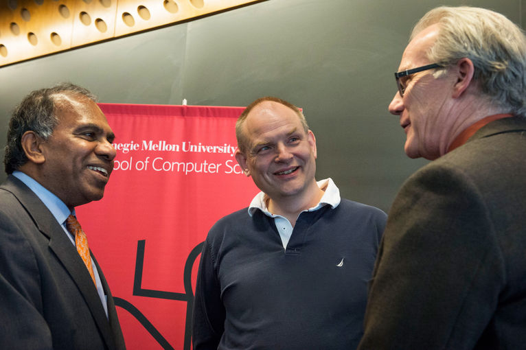 Carnegie Mellon President Subra Suresh and Andrew Moore