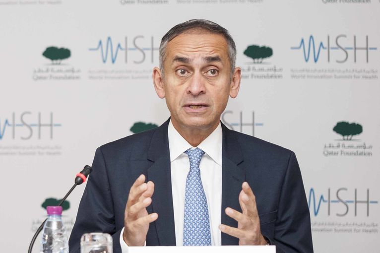 Professor the Lord Darzi, Chair of WISH speaking at the press conference.jpg