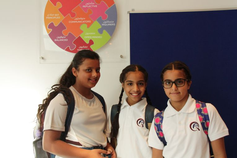 QAD Primary School students on their first day at school.