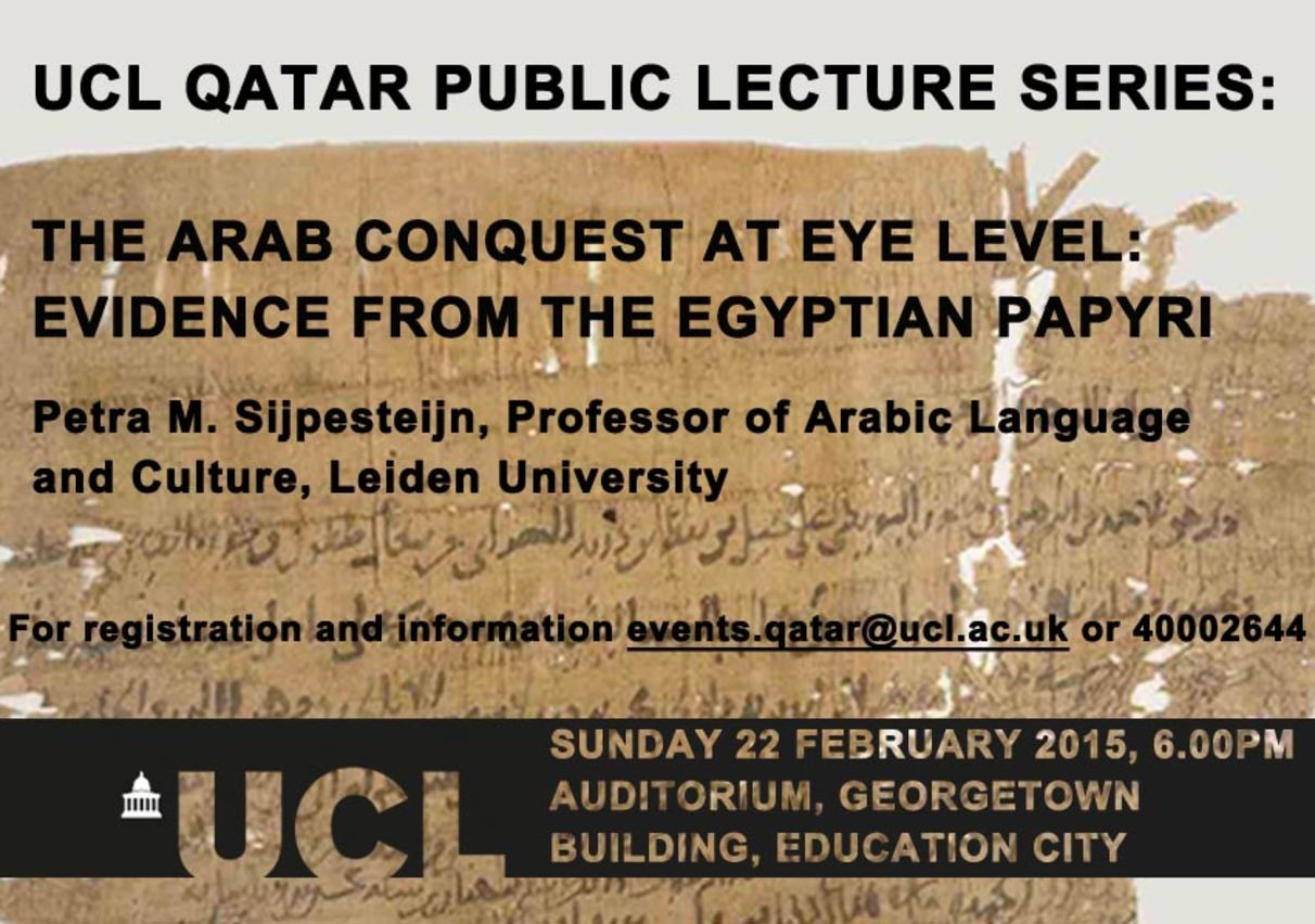 UCL Qatar Public Lecture Series