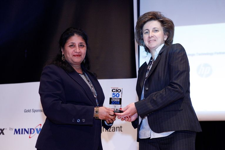 QNL's Associate Director for IT,Krishna Roy Chowdhury receiving the CIO 50 Award 2014'
