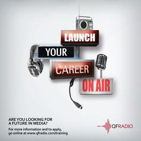 QF Radio internship poster